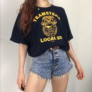 Vintage 90s Teamsters Union USA Made Oversized Tee